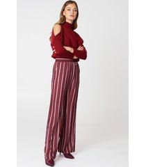 na-kd high waist wide pants - multicolor