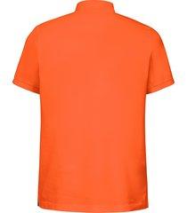 poloshirt van 100% katoen met korte mouwen van gant oranje