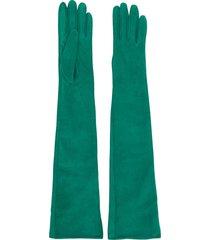 manokhi elbow-length gloves - green