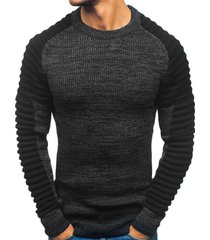 pleated shoulder heather knit pullover sweater