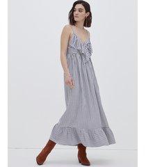 motivi vestito lungo a righe donna blu