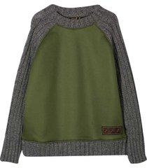 fendi gray and green sweatshirt