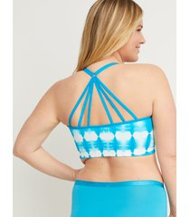 lane bryant women's seamless reversible strappy-back bralette 14/16 caneel bay