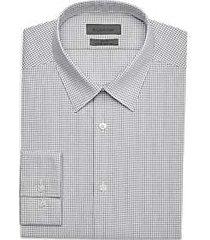 calvin klein infinite slate check slim fit dress shirt