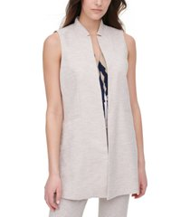 dkny notched-collar twill vest