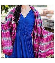 silk shawl, 'pink reflecting pools' (thailand)