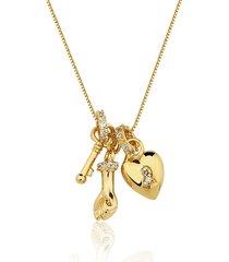colar rincawesky amuleto do amor dourado