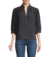 cali dotted silk top