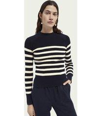 scotch & soda breton knitted cotton sweater