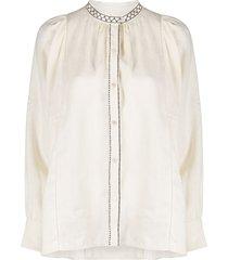 weekend max mara straight fit blouse - neutrals