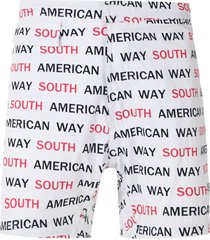 amir slama south american way tactel swim shorts - white