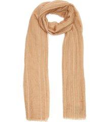 'loopie' striped cashmere scarf
