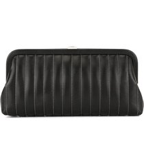 chanel pre-owned mademoiselle vertical quilt clutch - black