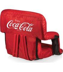 oniva by picnic time coca-cola ventura seat portable recliner chair
