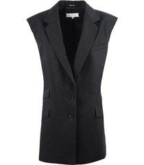 maison margiela black cotton blazer jacket