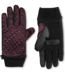 isotoner signature women's sleekheat quilted gloves