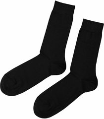 calzedonia - short stretch cotton socks, 42-43, black, men