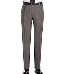 joseph abboud gray sharkskin pleated modern fit pleated suit separate dress pants