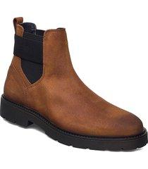 elastic hilfiger suede chelsea stövletter chelsea boot brun tommy hilfiger