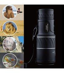 40x60 hd óptico monocular caza camping senderismo-negro