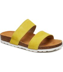 twin strap slip in shoes summer shoes flat sandals gul bianco