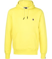 a bathing ape® logo patch hoodie - yellow