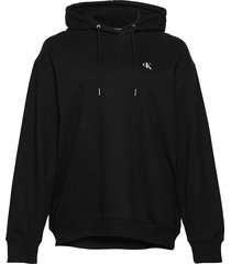 plus large ck over d hoodie hoodie svart calvin klein jeans