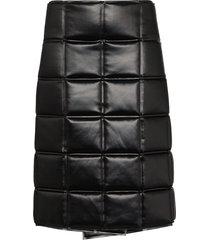 bottega veneta quilted wrap knee-length skirt - black