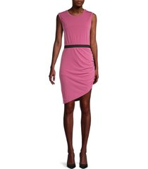 bcbgmaxazria women's sleeveless asymmetrical dress - violet - size s