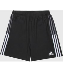 pantaloneta negro-blanco adidas performance entrenamiento tiro