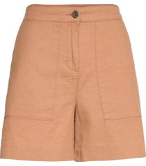 juliana linen blend shorts shorts chino shorts brun lexington clothing
