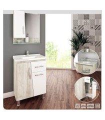 gabinete banheiro 60cm cesto roupas branco lilies móveis