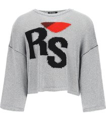 raf simons oversized sweater rs embroidery