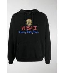 versace home signature logo hoodie