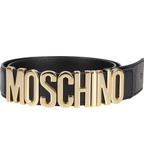 moschino classica logo belt