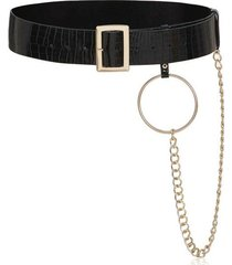 chain rectangle buckle belt