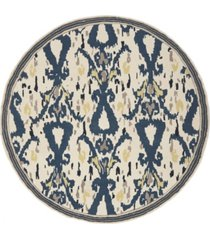 martha stewart collection ikat pendant msr4553b bone 4' x 4' round area rug