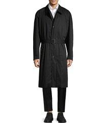 hugo men's marco oversized cotton trench coat - black - size 42 r