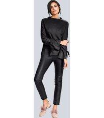 tröja med knytband alba moda svart