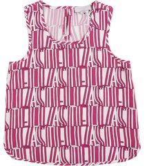 stella mccartney pink stella stype tencel top