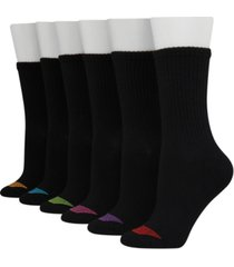 hanes women's 6-pk. ultimate core lightweight crew socks