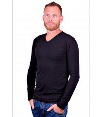 alan red t-shirt model oslo (longsleeve) black
