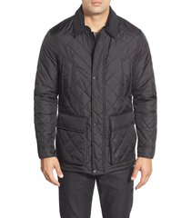 men's cole haan quilted jacket, size xx-large - black