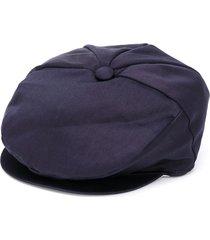 colorichiari flat-visor beret - blue