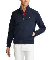 polo ralph lauren men's hybrid double-knit jacket