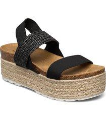 christia sandal sandalette med klack espadrilles svart steve madden