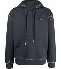 ader error logo-print drawstring hoodie
