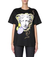 hoofd gedrukt t-shirt met medusa