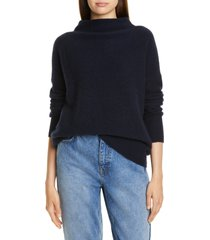 women's vince boiled cashmere funnel neck pullover