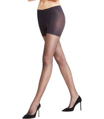 women's falke shape deluxe 8 tights, size medium - black